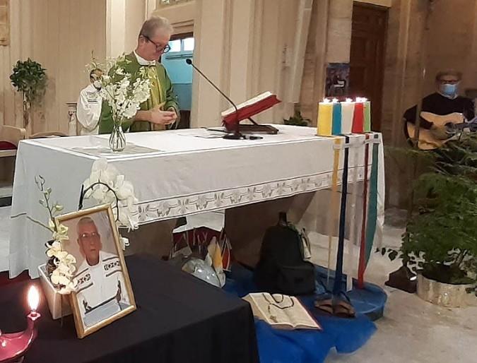 Messa in ricordo di P. Pasqualetti nella Chiesa delle Suore Battistine a Roma